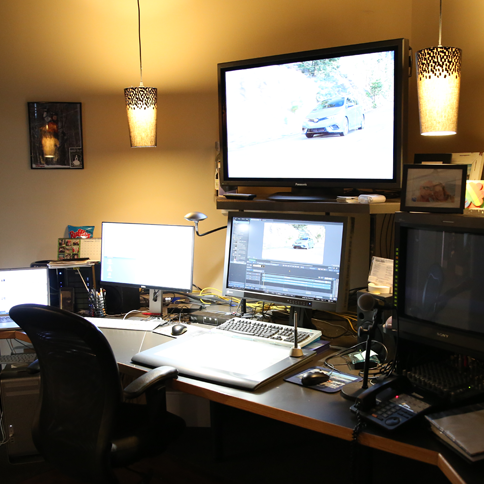Studio 6 installation including sound board and all digital editing equipment